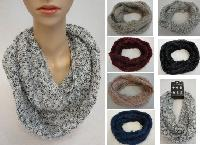 Knitted Infinity Scarf [Woven Knit with Shag]